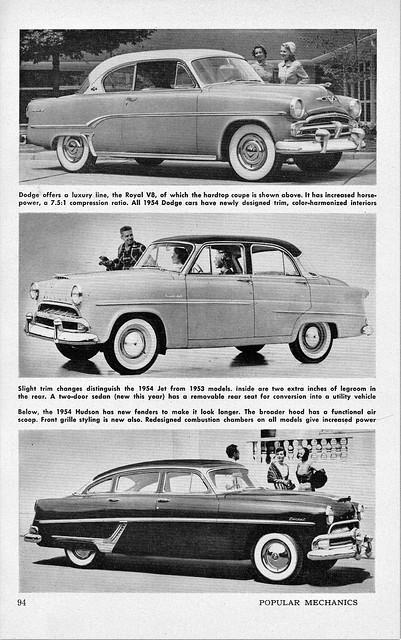 1954 Dodge Royal and Hudson Jet & Hornet