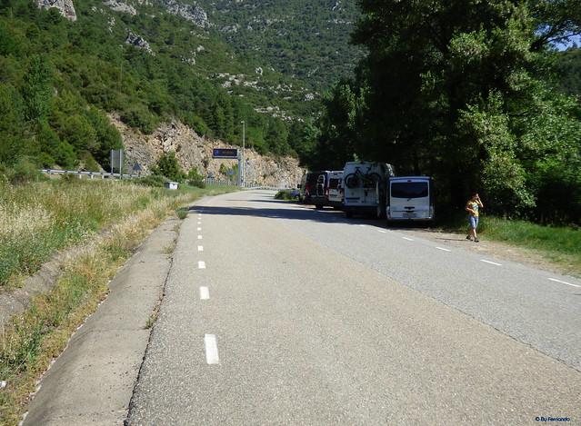 Congost de Tres Pont -01- LV-4001 -01- Parking 1 para acceder a los Sectores de Tres Ponts y Fontanella 01 Desde la lV-4001