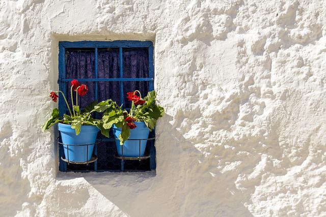Spain - Cordoba - Iznajar - Blue pots