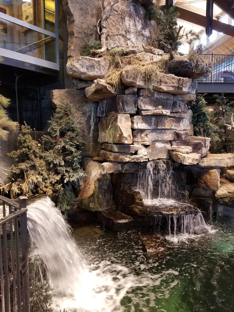 Waterfall and beaver dam