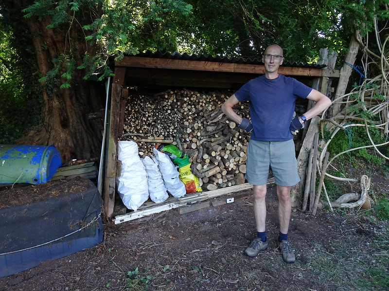 Restacking the log shed: Stacked!