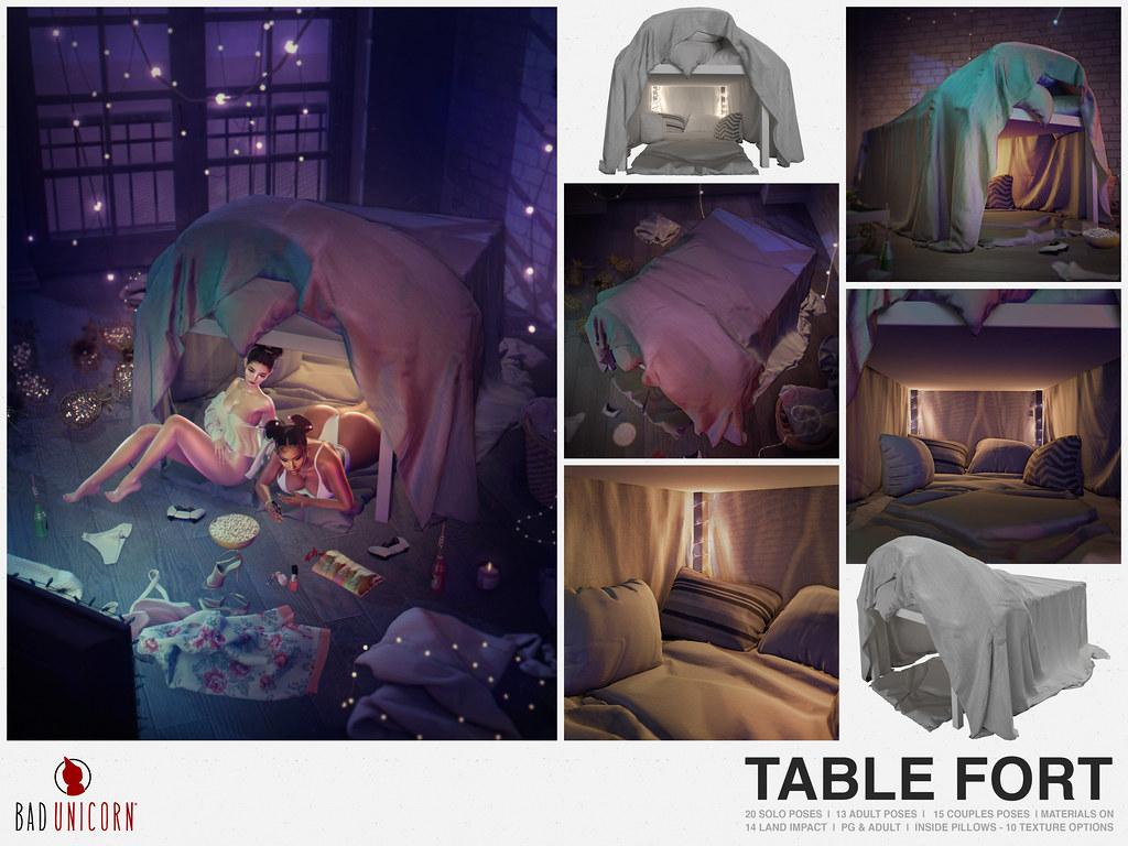NEW! Table Fort @ KUSTOM9