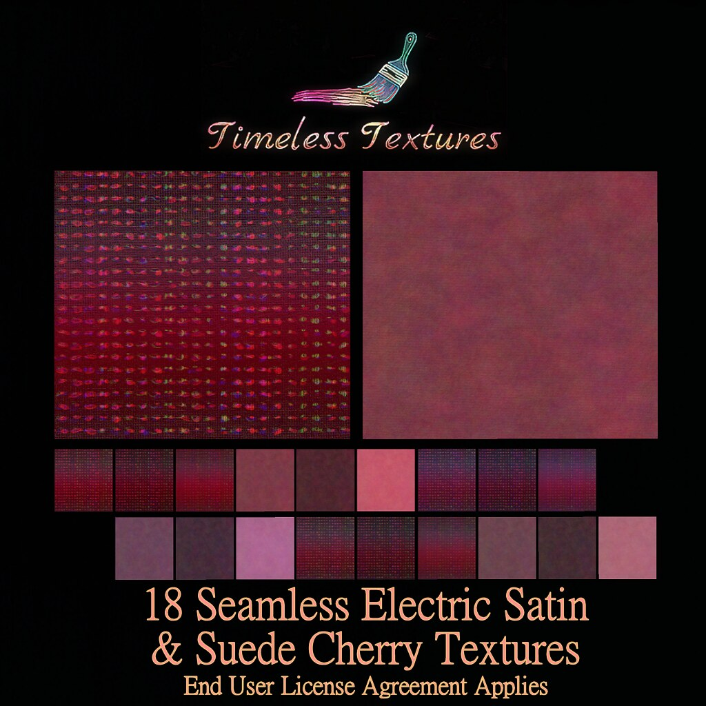 TT 18 Seamless Electric Satin & Suede Cherry Timeless Textures