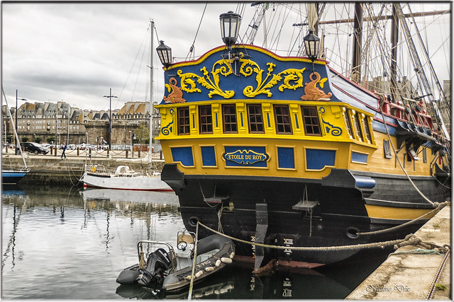 L'Etoile du Roy vue arrière de la poupe – Saint-Malo