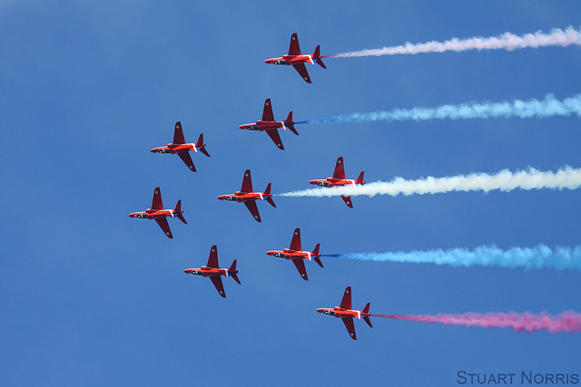 Red Arrows - Duxford Spring Show 2013