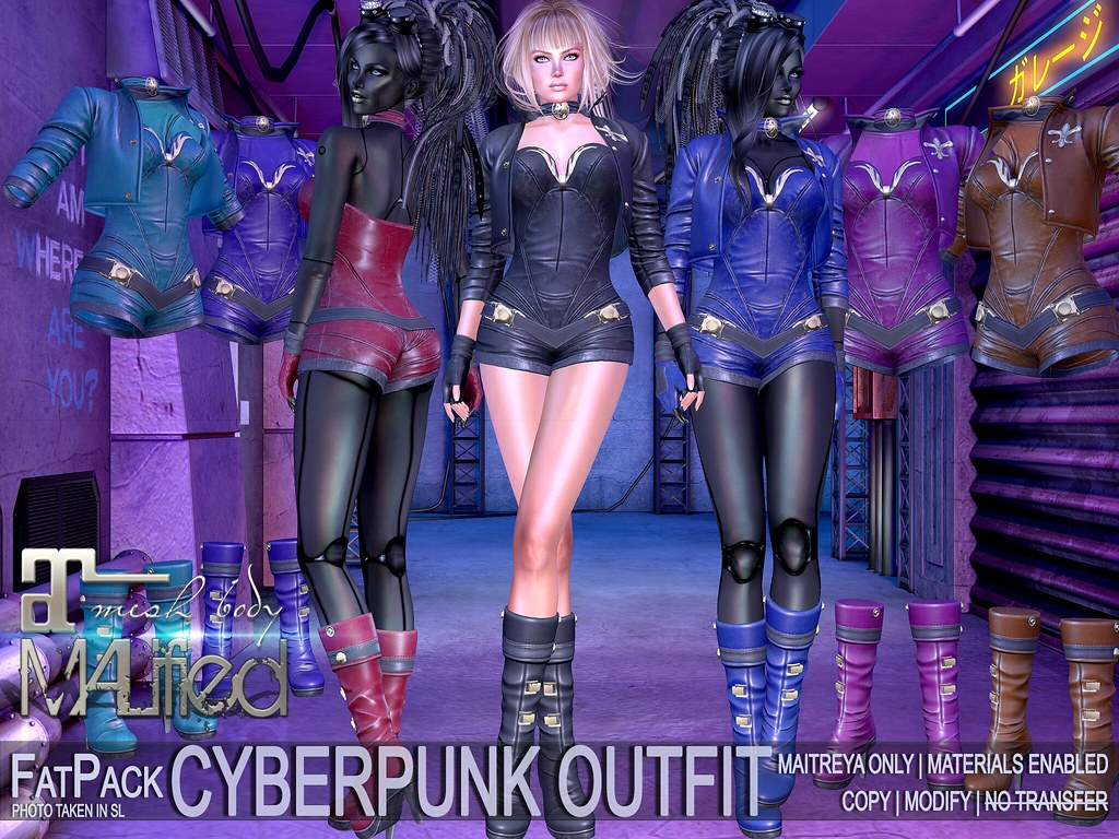 MALified – CyberPunk Outfits – FatPack