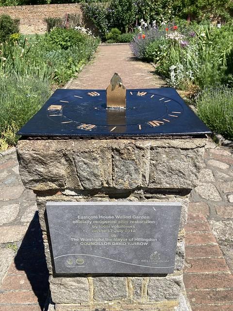 Eastcote House walled garden sundial