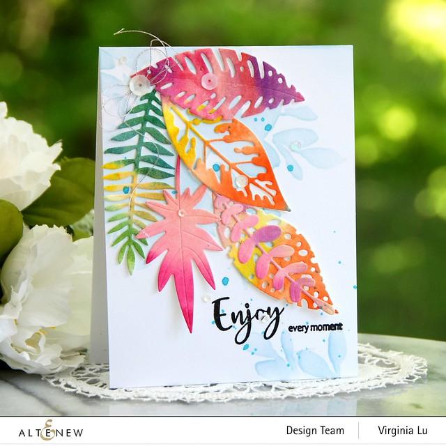 Altenew-Tropical Leaf Mix Die Set-Floral Drape Stencil-Simply Spring Stamp Set