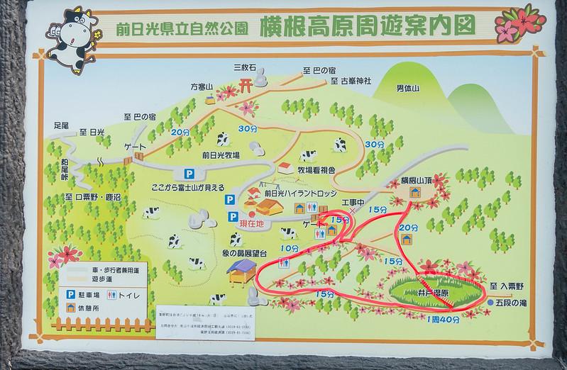 井戸湿原の地図