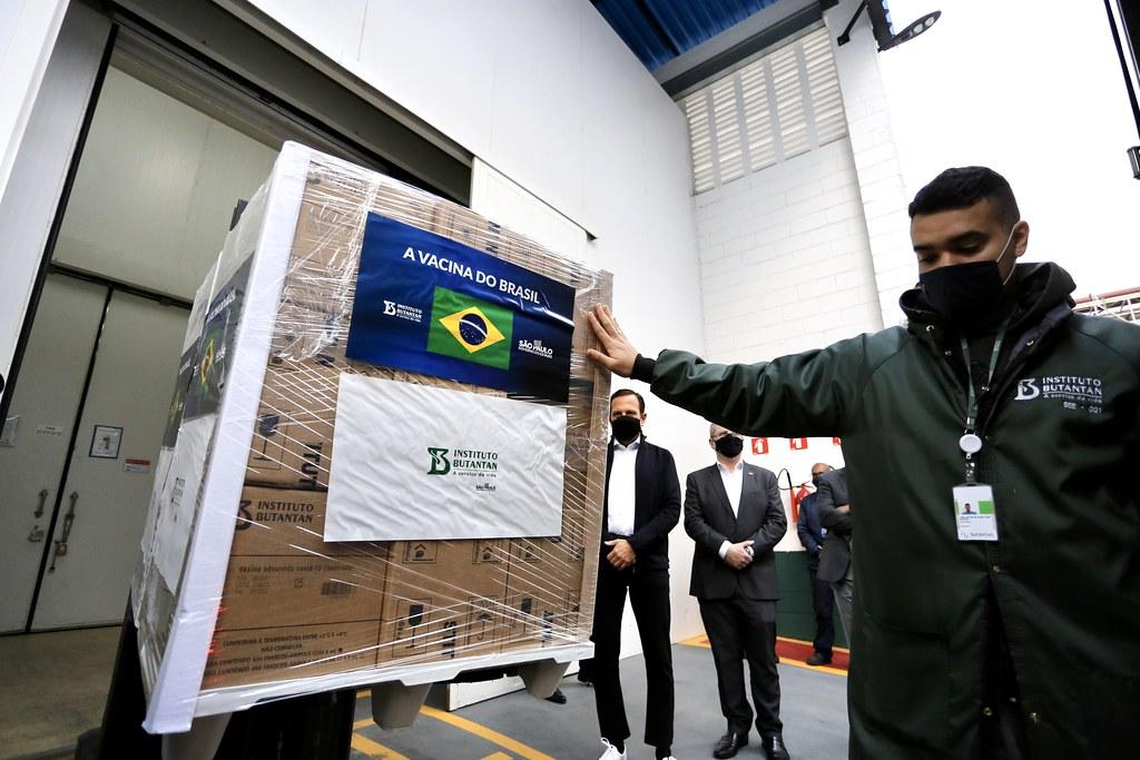 SP chega a 50 milhões de doses da vacina do Butantan entregues aos brasileiros