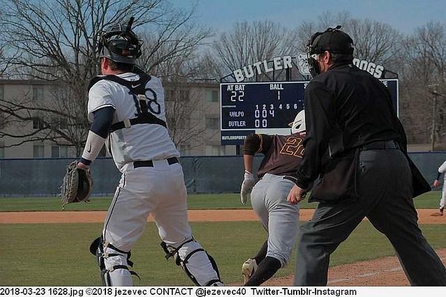 2018-03-23 1628 Baseball Valparaiso Crusaders  @ Butler University Bulldogs