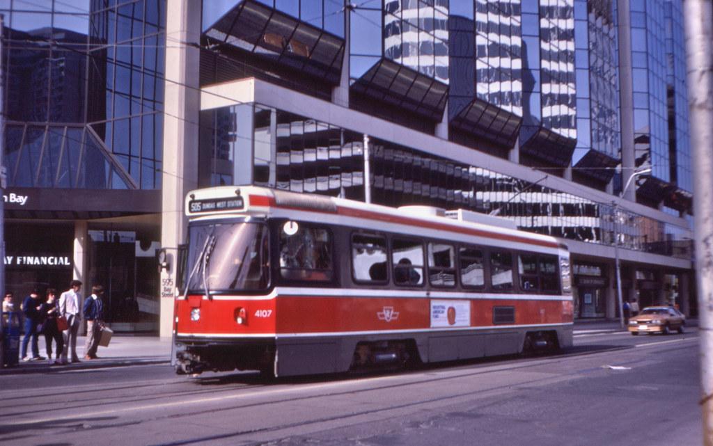 11040T - Toronto Transit 4107 - Dundas Street West at Bay Street - 18 May 1983