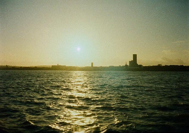 Mersey ferry towards Seacombe