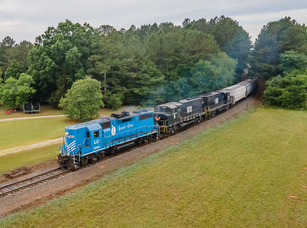 Lancaster & Chester LC 2866 (GP38-2) Train:16 Bascomville, South Carolina
