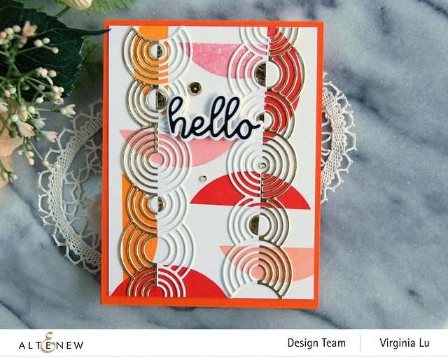 Altenew-Rippling Rings Border Die-All About You Die Set-Let's Go Stamp Set -002