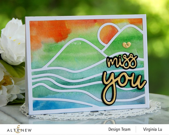 Altenew-Abstract Landscape Cover Die-All About You Die Set