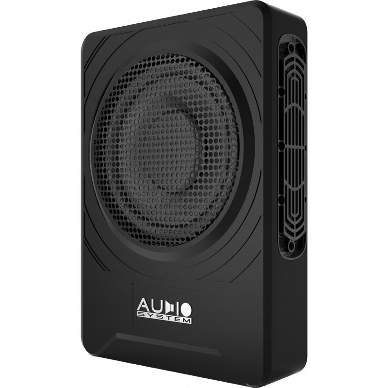 """AUDIO SYSTEM 8"""" ACTIVE UNDERSEAT OR BEHIND SEAT SUBWOOFER 250/200WATT RMS 2 OHM"""