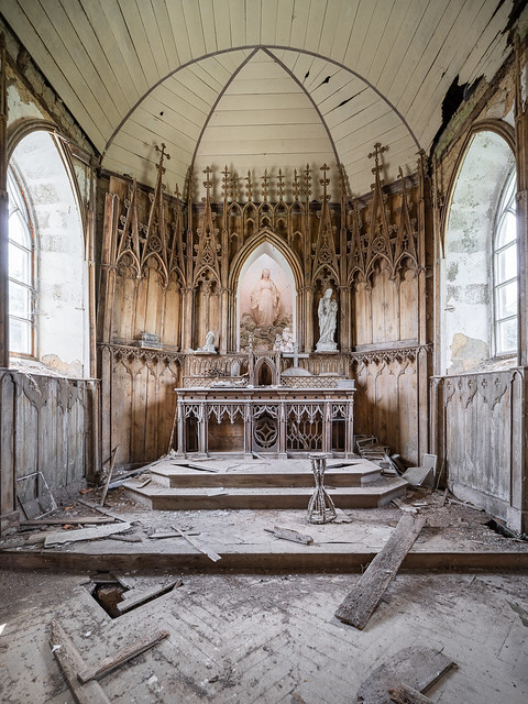 Lost church in France