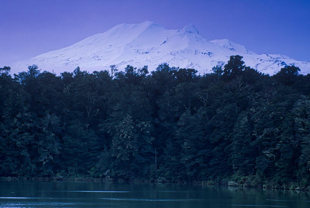 Mt Ruapehu from Lake Rotokura