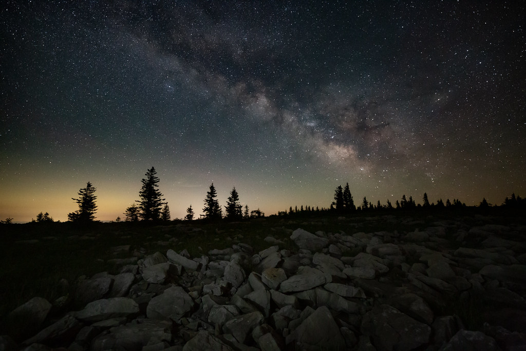 West Virginia in the Night