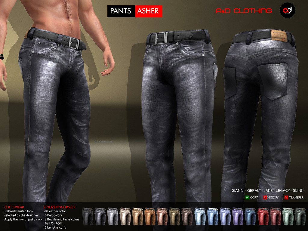 A&D Clothing – Pants -Asher- NEW RELEASE