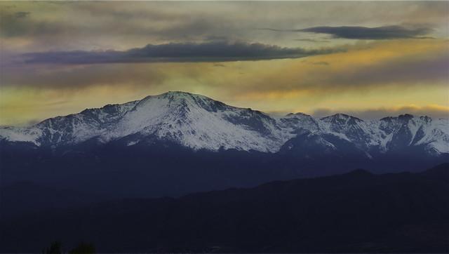 Pike Peak Sunset