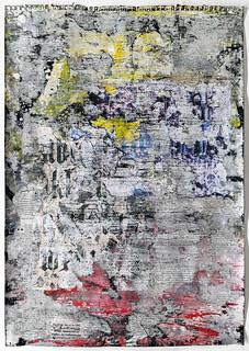 Zavier Ellis 'Freiheit XI', 2021 Acrylic, emulsion, spray paint, collage on paper 59.4x42cm