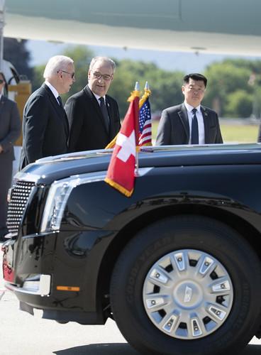 Arrival of President Joe Biden in Geneva, Switzerland