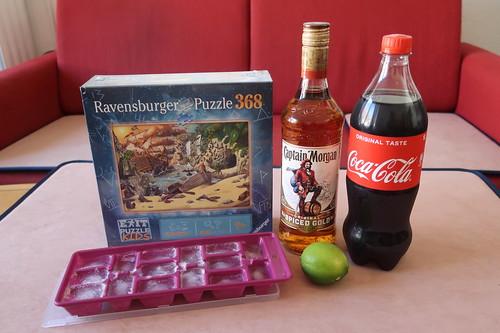 """Zutaten für Captain Cola und Exit Puzzle Kids """"Das Piratenabenteuer"""""""