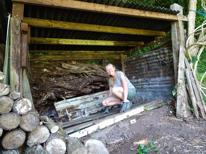 Restacking the log shed: half way through
