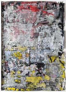 Zavier Ellis 'Freiheit X', 2021 Acrylic, emulsion, spray paint, collage on paper 59.4x42cm