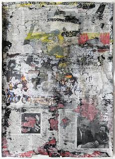 Zavier Ellis 'Freiheit VII', 2021 Acrylic, emulsion, spray paint, collage on paper 59.4x42cm