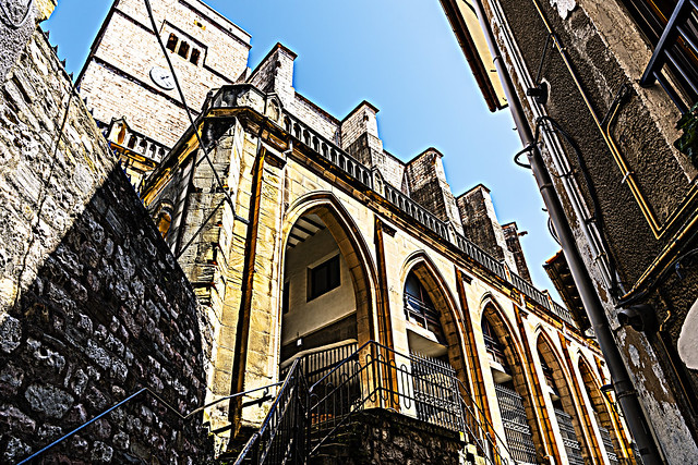 Going up the stairs. Donostia. Euskadi
