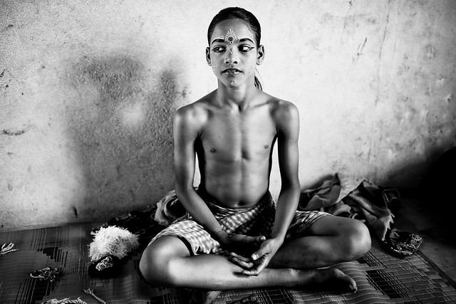 India, Gotipua dancer in Odisha
