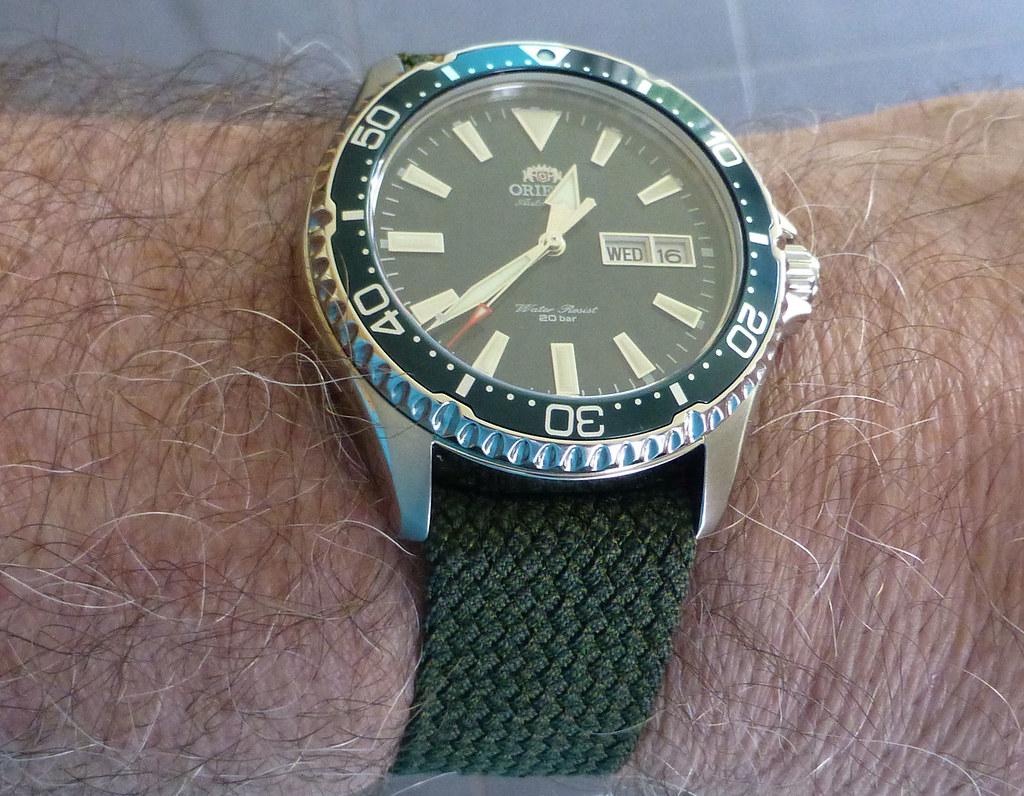 orient perlon green wrist2