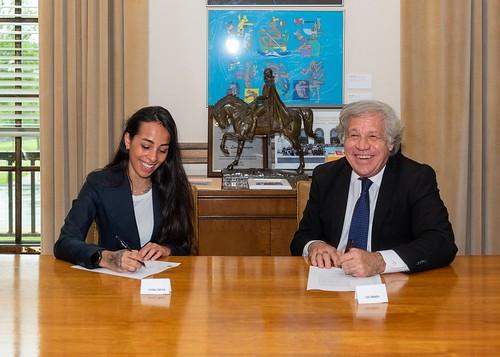 Secretaría General de la OEA designa a Evelina Cabrera como Embajadora de Buena Voluntad