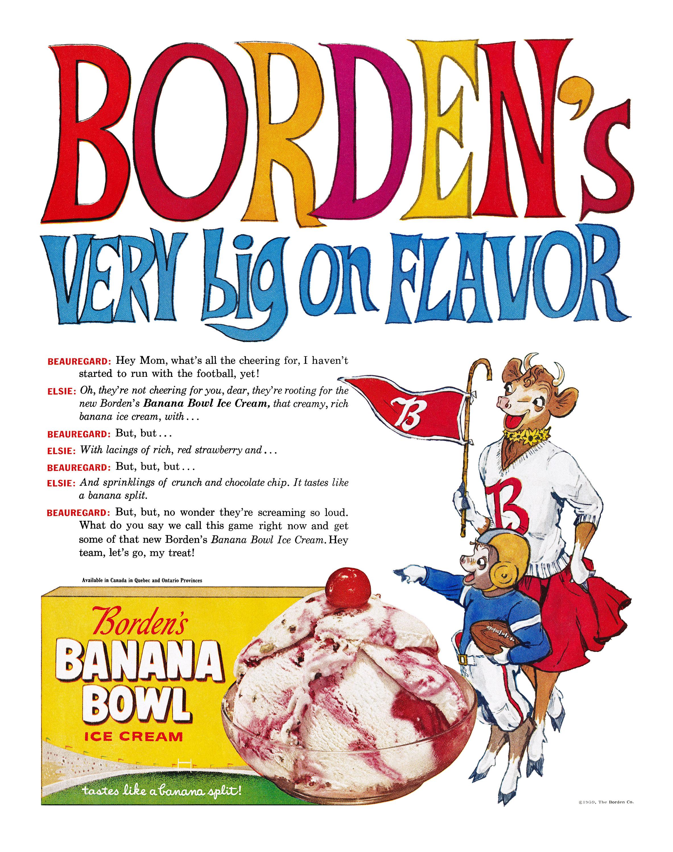 Borden's Banana Bowl Ice Cream - 1959