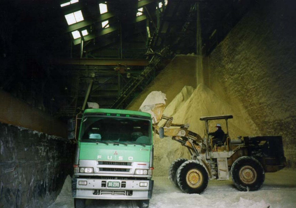 石膏儲存設施。資料照,照片來源:台電