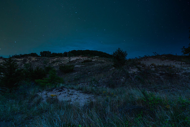 Indiana Dunes National Park by night