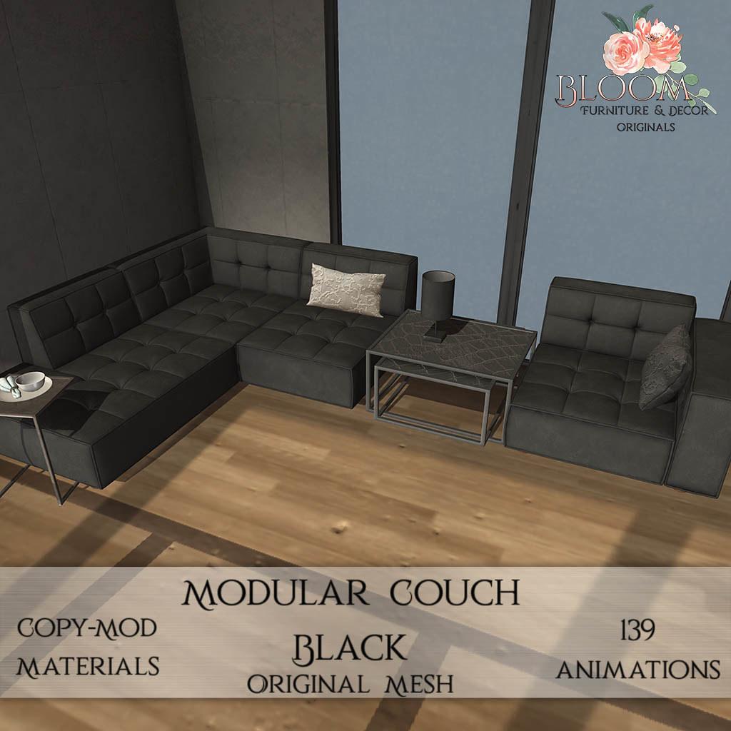 Bloom! originals – Modular Couch Black (PG)AD