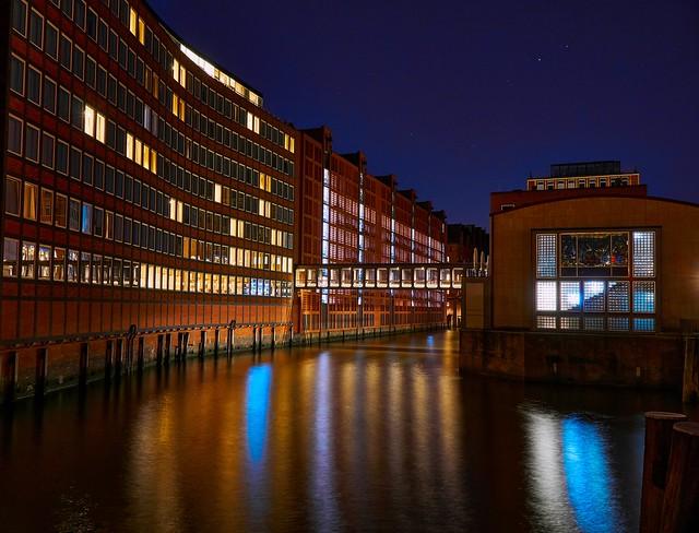 Starry summer night in Hamburg