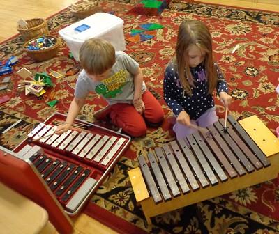 the marimba and the glockenspiel