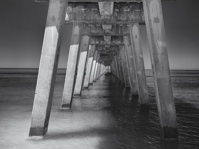 Below the pier