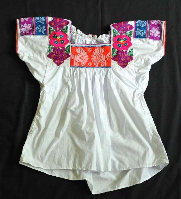 Mexican Blouse Nahua Puebla Clothing