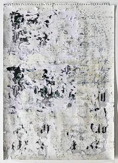 Zavier Ellis 'Freiheit XIX', 2021 Acrylic, emulsion, spray paint, collage on paper 59.4x42cm