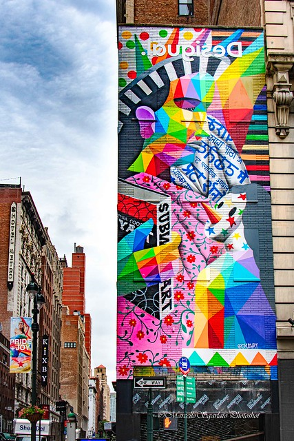 Okuda's Statue of Multiculturalism in NYC