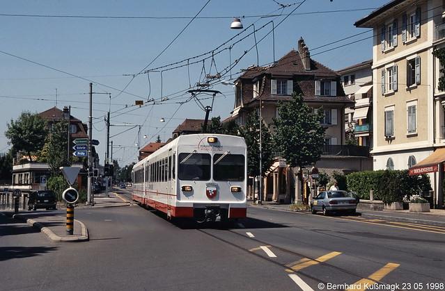 Europa, Schweiz, Kanton Waadt, Lausanne, Avenue d'Echallens, LEB