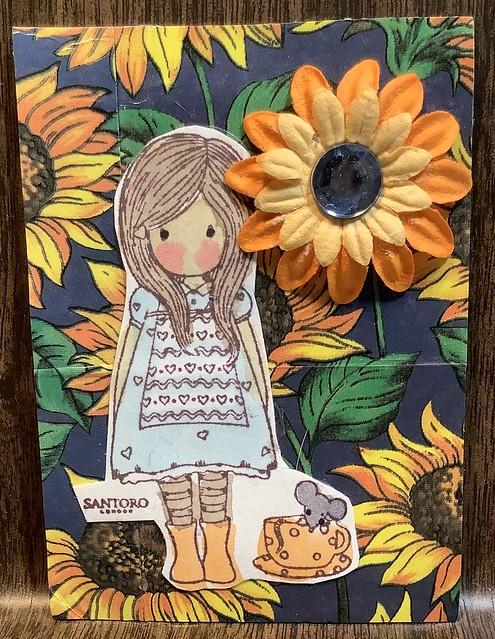 Santoro Sunflower Girl ATC