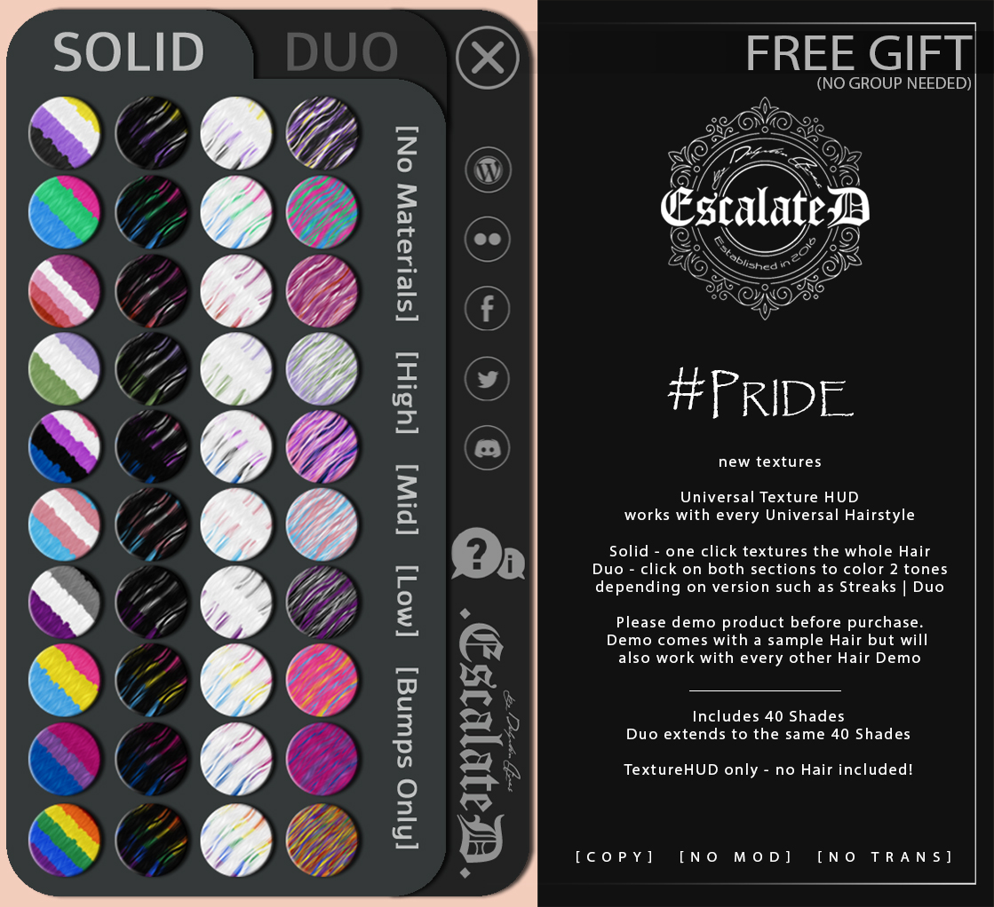 .EscalateD. PRIDE - free Gift