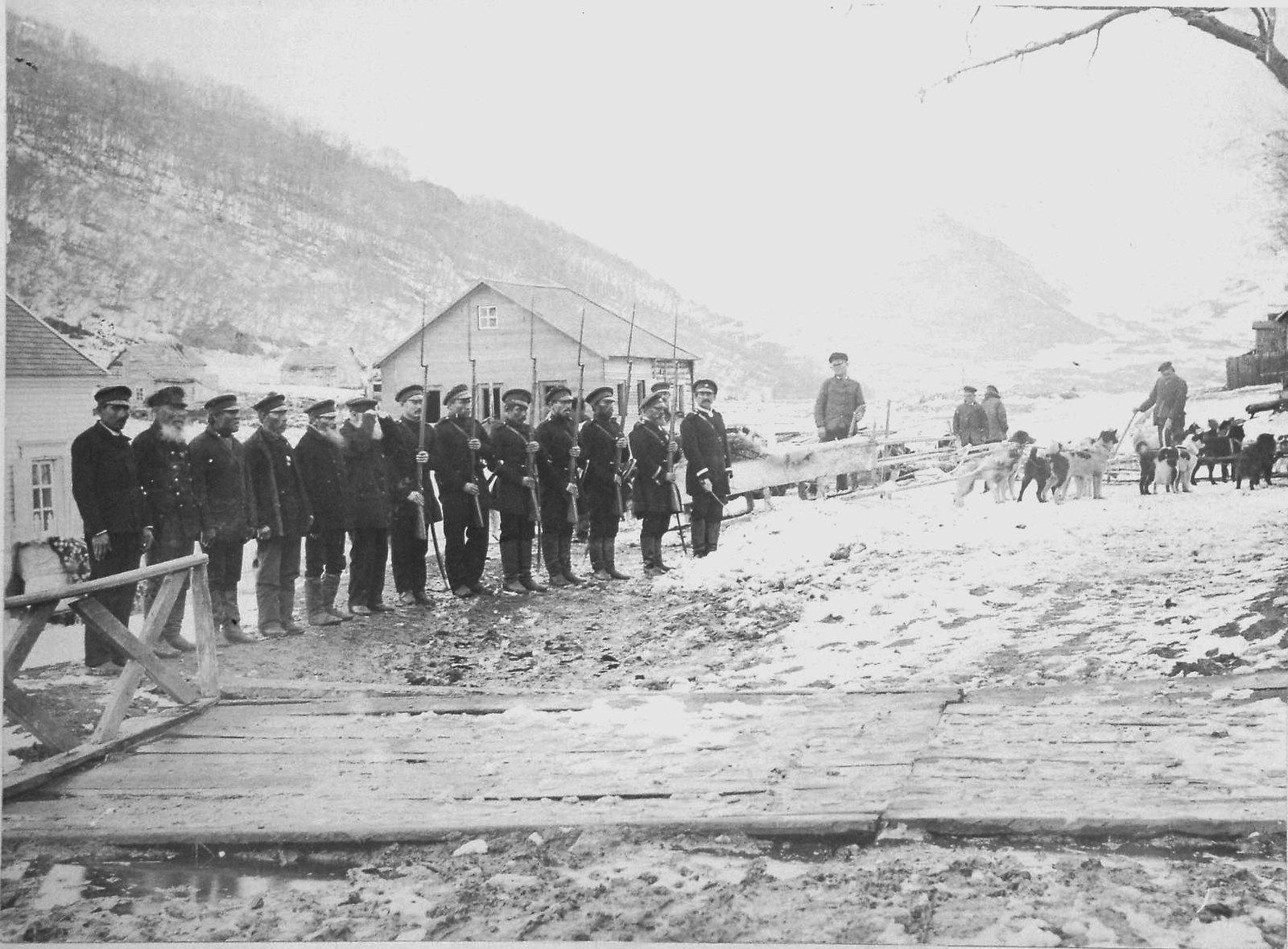 1897. Почетный караул от камчатских казаков. 6 мая